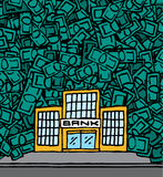 Soldi dei guadagni della Banca con copyspace Fotografie Stock
