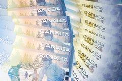 Soldi del Canada Fotografia Stock Libera da Diritti