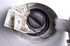 Soldi del gas Fotografia Stock Libera da Diritti