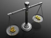 Soldi dell'equilibrio Fotografia Stock Libera da Diritti