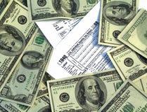 Soldi dell'imposta statale Fotografie Stock