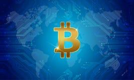 Soldi dell'internazionale di Bitcoin Vettore illustrazione vettoriale