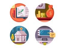Soldi dell'istituzione finanziaria royalty illustrazione gratis