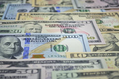 Soldi della banconota del dollaro Fotografie Stock Libere da Diritti