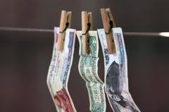 Soldi della lavanderia Fotografia Stock Libera da Diritti