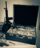 Soldi della valigia Immagine Stock Libera da Diritti