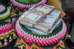 Soldi di baht tailandese Fotografia Stock