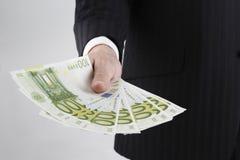Soldi di bisogno: euro Fotografia Stock Libera da Diritti