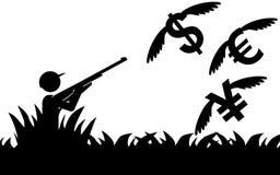 Soldi di caccia Immagine Stock