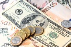 Soldi di carta e monete Immagine Stock Libera da Diritti