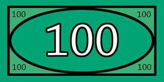 Soldi di gioco di 100 dollari Fotografie Stock Libere da Diritti