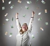 soldi di goccia Fotografia Stock