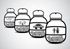 Soldi di risparmio per futuro Immagine Stock Libera da Diritti