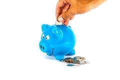 Soldi di risparmio per il migliore futuro Immagine Stock
