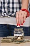 Soldi di risparmio per il pensionamento Immagine Stock