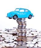 Soldi di risparmio per l'automobile Fotografia Stock