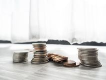 Soldi di risparmio per l'investimento futuro immagini stock