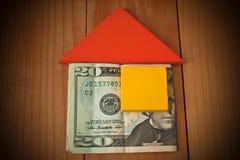 Soldi di risparmio per la casa Immagine Stock