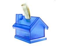 Soldi di risparmio per la nuova casa Fotografie Stock