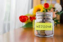 Soldi di risparmio per nozze Immagine Stock Libera da Diritti