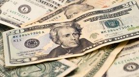 Soldi di valuta di U.S.A. Fotografia Stock Libera da Diritti