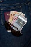 Soldi di viaggio Fotografie Stock Libere da Diritti