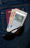 Soldi di viaggio Fotografia Stock Libera da Diritti