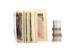 Soldi di Yen giapponesi Fotografie Stock Libere da Diritti