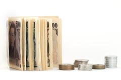 Soldi di Yen giapponesi Fotografia Stock Libera da Diritti