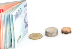 Soldi di Yen giapponesi Immagini Stock