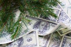 Soldi, dollari del nuovo anno Fotografia Stock Libera da Diritti