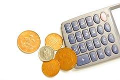 Soldi e calcolatore Fotografia Stock