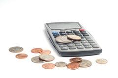 Soldi e calcolatore Immagini Stock