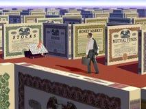 Soldi e labirinto di investimento Immagini Stock Libere da Diritti