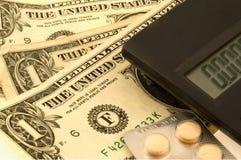 Soldi e medicina Immagine Stock Libera da Diritti
