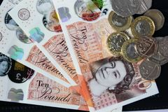 Soldi e monete inglesi Immagine Stock Libera da Diritti