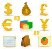 Soldi e valuta Fotografia Stock Libera da Diritti