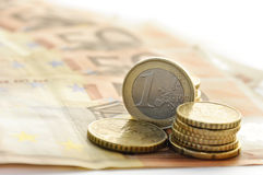 Soldi - euro Fotografia Stock