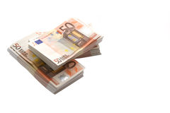 Soldi - euro 50 Fotografia Stock