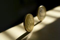 Soldi euro di rotolamento Fotografie Stock