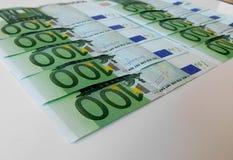 Soldi, euro, nave, contanti, fatture Fotografia Stock