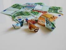 Soldi, euro, nave, contanti, fatture Fotografie Stock