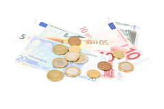 Soldi europei Fotografia Stock