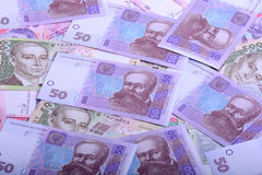 Soldi europei, primo piano ucraino di hryvnia fotografia stock libera da diritti