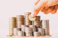 Soldi, finanziari, concetto di crescita di affari immagini stock libere da diritti