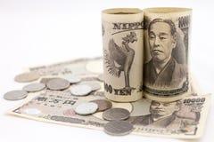 Soldi giapponesi Fotografie Stock Libere da Diritti
