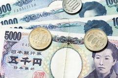 Soldi giapponesi Fotografia Stock