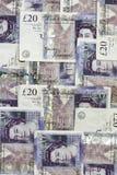 Soldi inglesi come priorità bassa Fotografia Stock Libera da Diritti