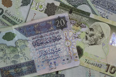 Soldi libici Fotografia Stock Libera da Diritti
