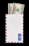 Soldi nella posta Immagine Stock Libera da Diritti